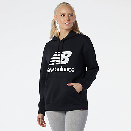NB NB Essentials Stacked Logo Oversized Hoodie, WT03547BK image number null