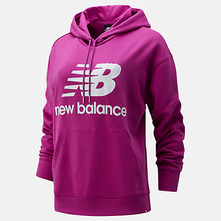 New Balance NB Essentials Stacked Logo Oversized Hoodie, WT03547JJL image number null