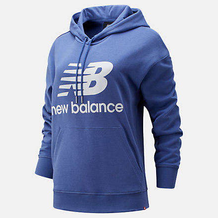 New Balance NB Essentials Stacked Logo Oversized Hoodie, WT03547MBL image number null