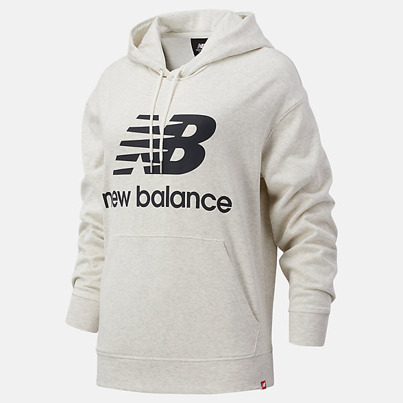 New Balance NB Essentials Stacked Logo Oversized Hoodie, WT03547SAH