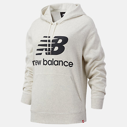 New Balance NB Essentials Stacked Logo Oversized Hoodie, WT03547SAH image number null