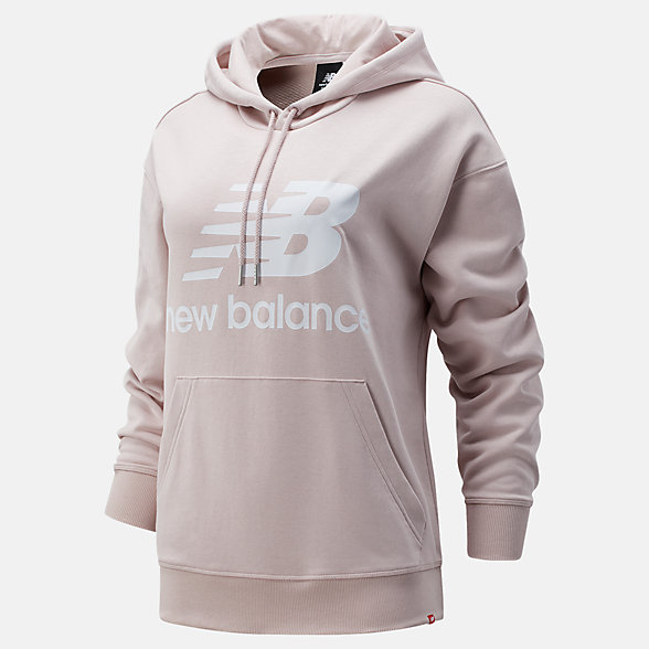 New Balance NB Essentials Stacked Logo Oversized Hoodie, WT03547SCI
