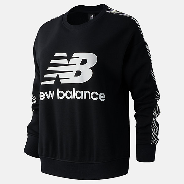 New Balance NB Athletics Animal Print Crew, WT03548BK