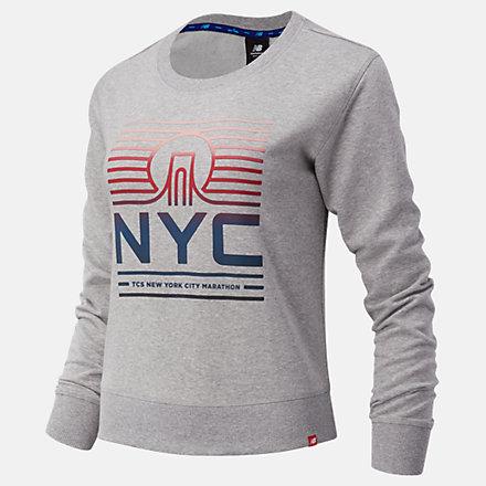 New Balance NYC Marathon Essentials Crew, WT03551MAG image number null
