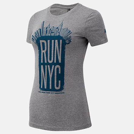 New Balance NYC Marathon Run 26.2 Park Short Sleeve, WT03618MAG image number null