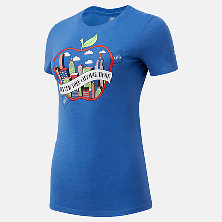 New Balance NYC Marathon Archive Apple Graphic Tee, WT03626MTRY image number null