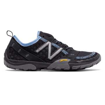 New Balance Minimus Trail 10, Black with Light Blue
