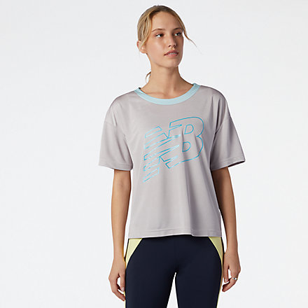 New Balance Achiever Mesh Graphic Top, WT11153LWD image number null