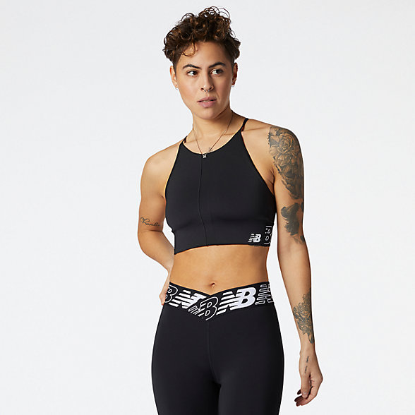 NB Relentless Crop Top, WT11193BK