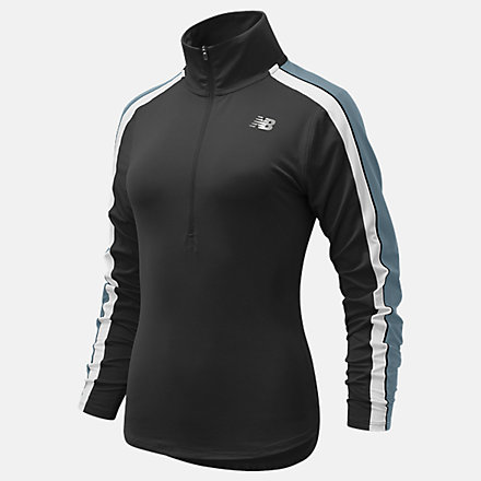 New Balance Accelerate Half Zip Pullover, WT11216BK image number null