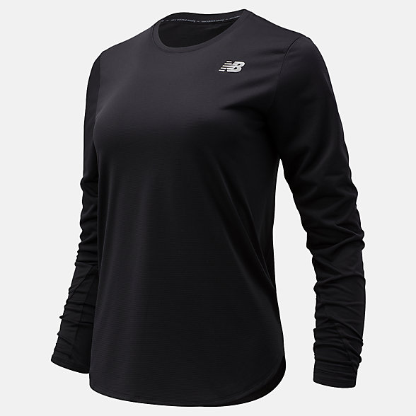 NB Accelerate Long Sleeve, WT11224BK