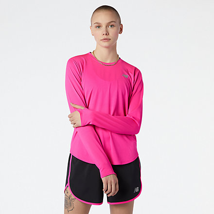 New Balance Accelerate Long Sleeve, WT11224PGL image number null