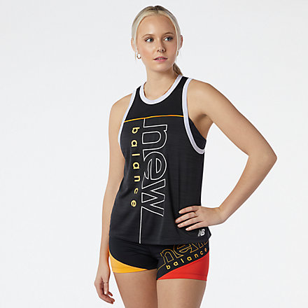 New Balance Printed Fast Flight Tank, WT11239BKH image number null
