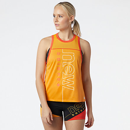 New Balance Printed Fast Flight Tank, WT11239HAH image number null