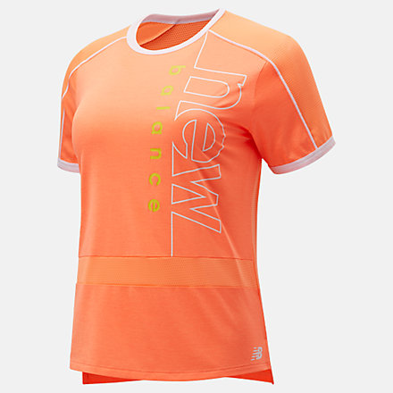 New Balance Printed Fast Flight Short Sleeve Top, WT11241CP1 image number null