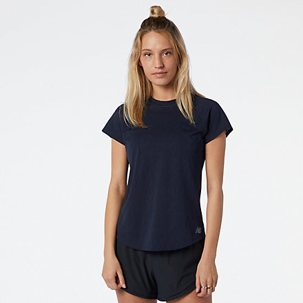 NB Q Speed Fuel Jacquard Short Sleeve, WT11278ECL image number null