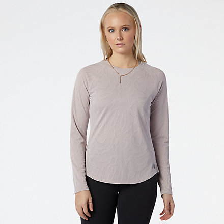 NB Q Speed Jacquard Long Sleeve, WT11286LWD image number null