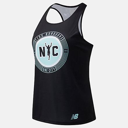 New Balance Boroughs Singlet NYC, WT11298QBK image number null