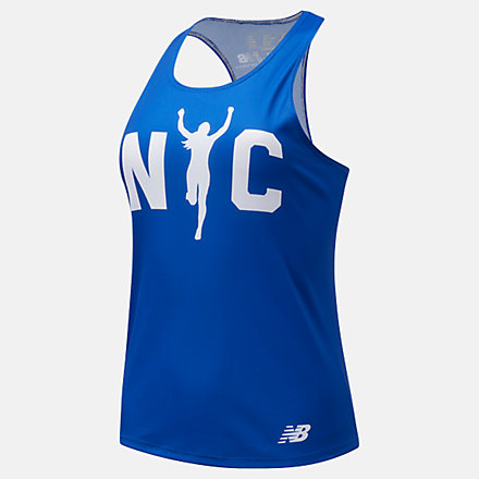New Balance Boroughs Singlet NYC, WT11298QPGM image number null