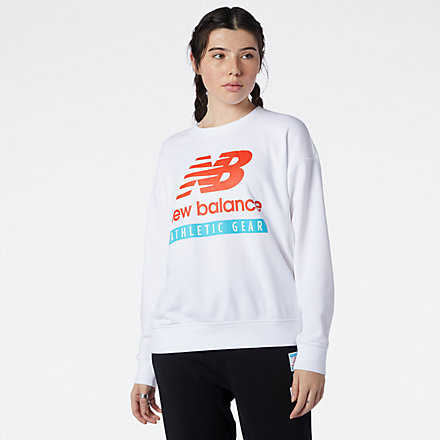 New Balance NB Essentials Field Day Crew Fleece, WT11506WT image number null