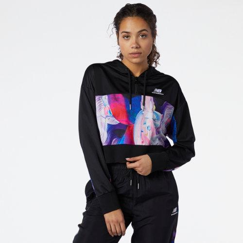 new balance women's nb athletics erin loree half-zip hoodie