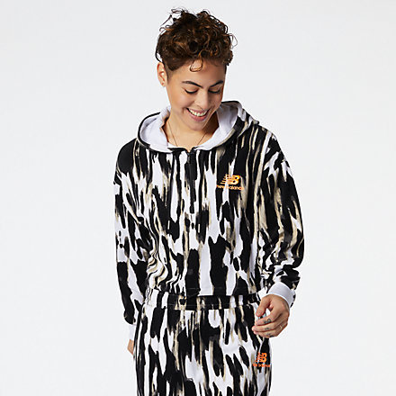 New Balance NB Athletics Collide Printed Terry Hoodie, WT11534WHP image number null