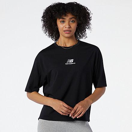 New Balance NB Athletics Collide Short Sleeve Tee, WT11540BK image number null