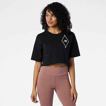 New Balance NB Athletics Argyle Graphic Tee, WT11542BK image number null