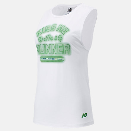 New Balance United Airlines NYC Half Kiss Me Sleeveless, WT11625CWT image number null
