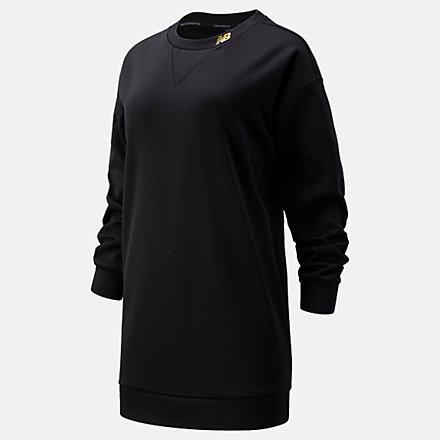 New Balance Achiever Train Fleece Sweatshirt, WT13151BK image number null