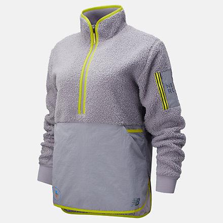 New Balance NYC Marathon Q Speed Sherpa Anorak, WT13285MWRY image number null