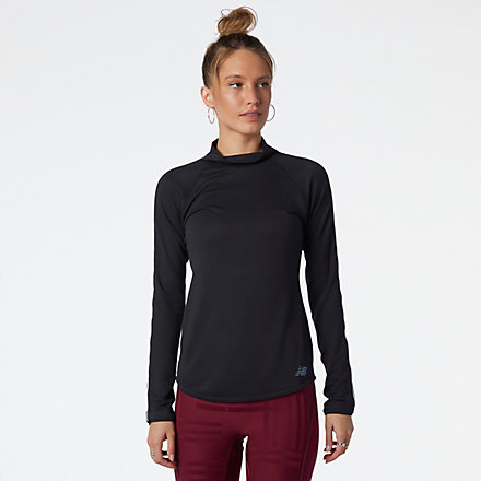 NB Q Speed 1NTRO Long Sleeve, WT13290BK image number null