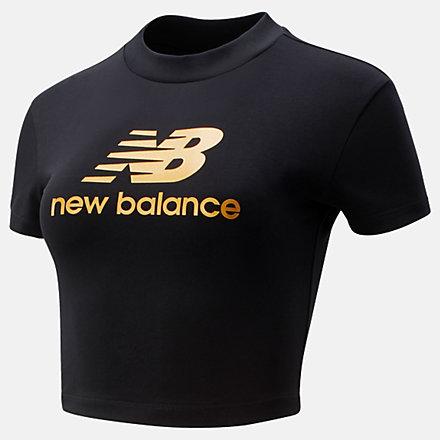 New Balance NB Athletics Higher Learning Slim Tee, WT13503BK image number null