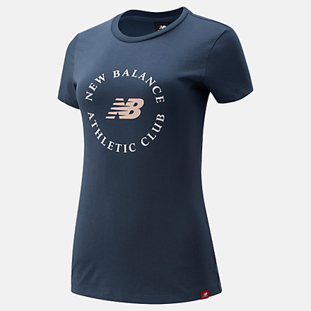 New Balance NB Essentials Athletic Club Graphic Tee, WT13507DOG image number null