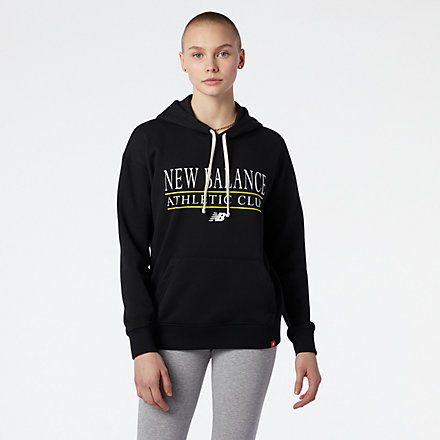 NB NB Essentials Athletic Club Hoodie, WT13508BK image number null