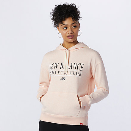 New Balance NB Essentials Athletic Club Hoodie, WT13508OPP image number null