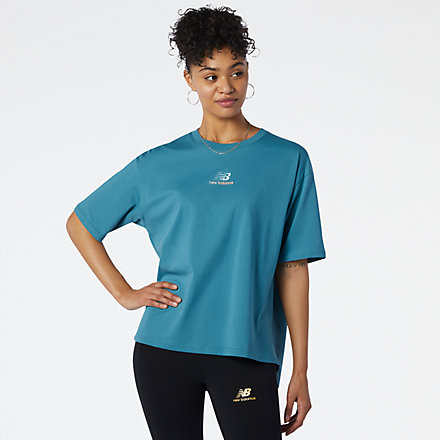 NB NB Athletics Higher Learning Graphic Tee, WT13528SEA image number null