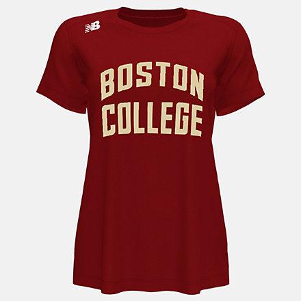 New Balance NB Short Sleeve Tech Tee(Boston College), WT500BCFMCR image number null