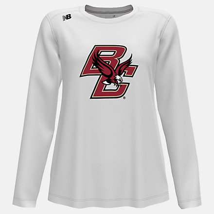 New Balance NB Long Sleeve Tech Tee(Boston College), WT501BCBWT image number null