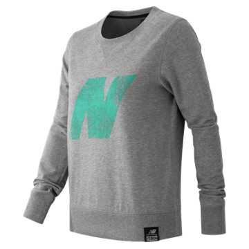 New Balance Essentials Plus Logo Crewneck, Athletic Grey