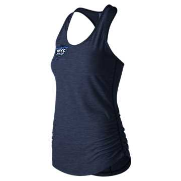 New Balance United Airlines NYC Half Transform Perfect Tank, Pigment Heather
