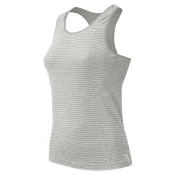 New Balance J.Crew M4M Seamless Tank, Athletic Grey