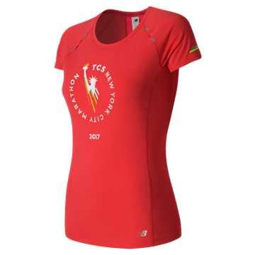New Balance NYC Marathon NB Ice Short Sleeve, Energy Red
