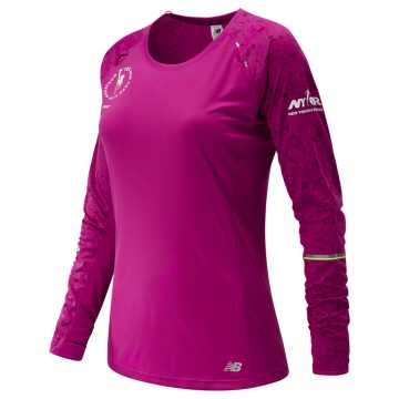 New Balance NYC Marathon NB Ice Long Sleeve, Poisonberry