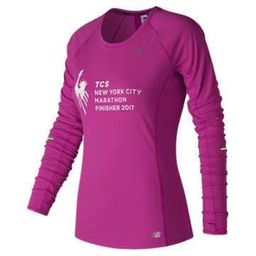 New Balance NYC Marathon Finisher NB Ice Long Sleeve, Poisonberry