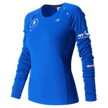 New Balance NYC Marathon NB Ice Long Sleeve, Vivid Cobalt Blue