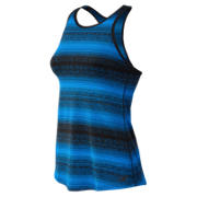 New Balance Layer Tank, Electric Blue with Black