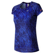 NB NB Ice Printed Short Sleeve, Frozen Fade with Vivid Cobalt Multi