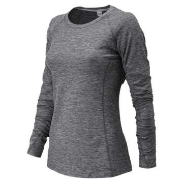 New Balance J.Crew In Transit Long Sleeve, Heather Charcoal