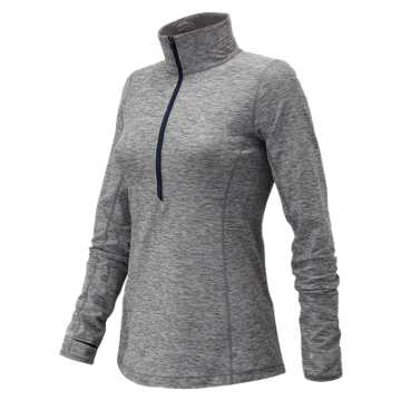 New Balance J.Crew In Transit Half Zip, Heather Charcoal